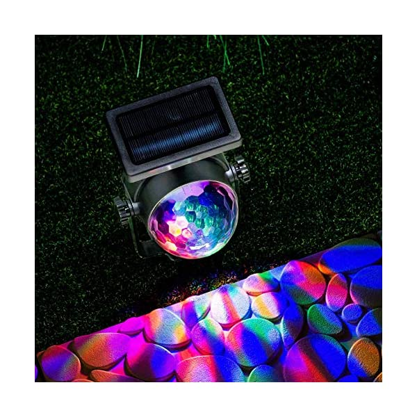 GloBrite Solar Powered Colour Changing Revolving LED Spotlight Carnival Garden Party Stake Light 4