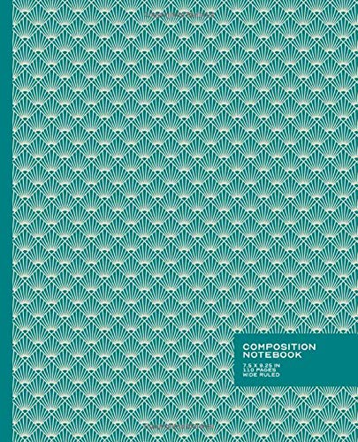 Wide Ruled Composition Notebook: Classic Art Deco Design | Inspirational | Beautiful Baby Blue and White | Blank Wide Ruled Book with Table of ... 7.5 x 9.25 in Composition Book, Band 1)