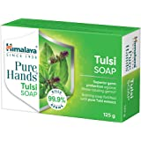 Himalaya, Pure Hands Tulsi Soap Superior germ protection Grad 1 bath Soap 76 TFM g Pack of 6, Green, 125 gram