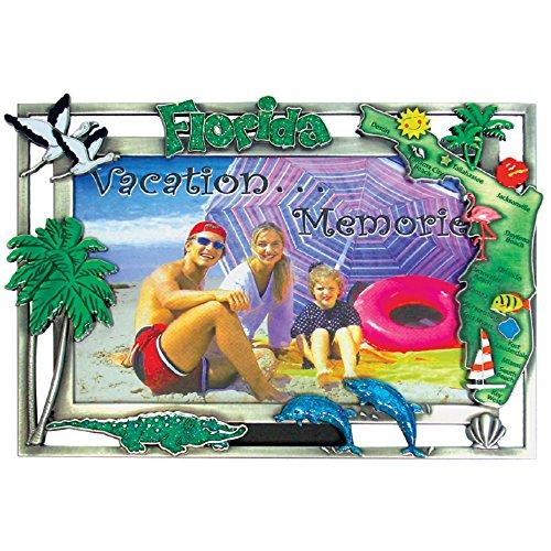 Rockin Gear Bilderrahmen Sortiert karibischen Inseln Schwerem Zinn 10,2x 15,2cm Souvenir Bilderrahmen für Wand Oder Tisch Top 4 x 6 inch Florida (Zinn Bilderrahmen)