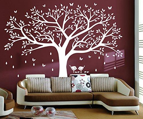 BDECOLL Grandi Nero Cornici Frames sui rami degli alberiDecorazione adesiva da parete gigante albero per foto di famiglia camera da letto per bambini