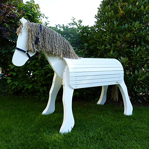 Weißes Voltigierpferd | Holzpferd