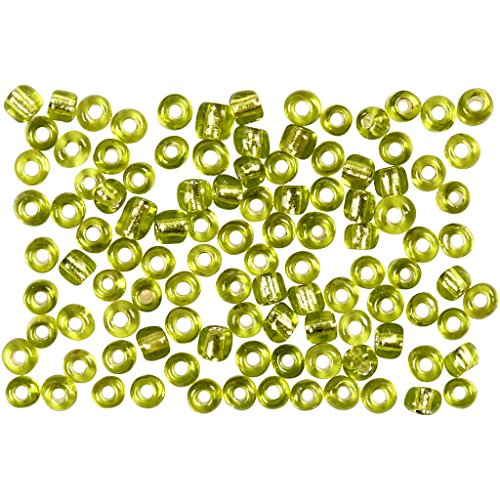 Rocailleperle, Größe 8/0 , lindgrün transparent, 500g