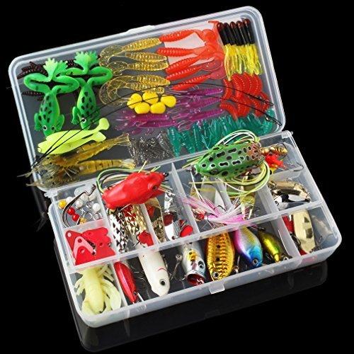 origlam 131pcs Super Wert Lure-Set Kit Viel mit Tackle, Angeln Kunstköder Köder Tackle Set für Süßwasser Forelle Bass lachs