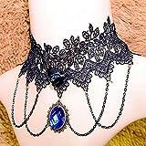 Spritech (TM) de mujeres niñas de la moda personalidad retro collar gótico Palace Noble estilo encaje Jewel Tassel Collares, style-3, talla única