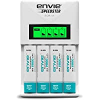 ENVIE Charger for AA & AAA Rechargeable Batteries (ECR11+AA2800 4PL)