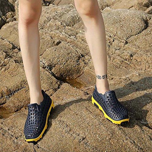 ZXCV Scarpe all'aperto Hole Shoes Sandali da uomo Pedali Outdoor Beach Wading Scarpe casual da uomo ad asciugatura rapida Il blu scuro.