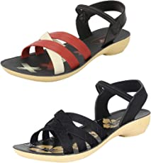 Earton Women Combo Pack of 2 Sandal & Floaters