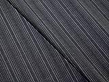 Anzug-Stoff 100% italienische Schurwolle Nadelstreifen Anthrazit Meterware
