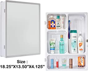 Primax Forever High Grade Multipurpose Bathroom Slim Cabinet with Mirror - White