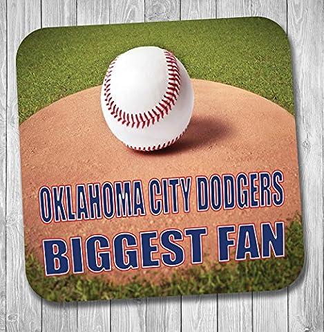Oklahoma City Dodgers Biggest Fan de baseball Coaster–Cadeau d'anniversaire/cadeau
