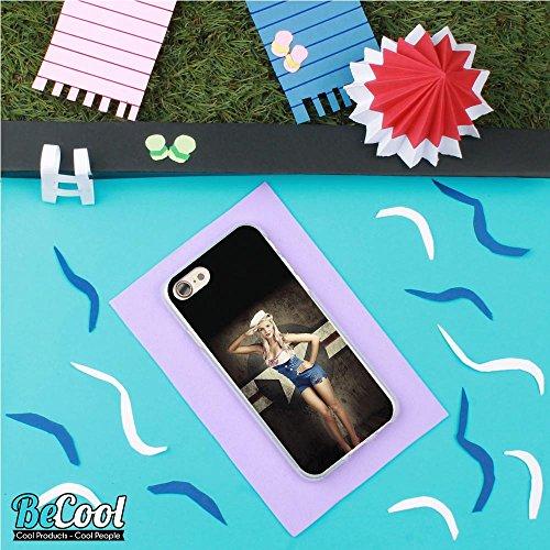 BeCool®- Coque Etui Housse en GEL Flex Silicone TPU Iphone 8, Carcasse TPU fabriquée avec la meilleure Silicone, protège et s'adapte a la perfection a ton Smartphone et avec notre design exclusif. Nat L1587