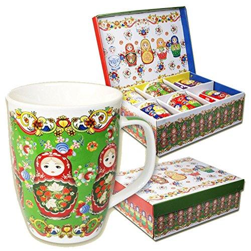 6 Becher Set (6 Tassen SET Tasse Becher Matrjoschka Matröschka je 0,35 Liter)