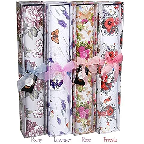 6 Large Fragrant Posy Scented Drawer Liners - 420x585mm - Gift Boxed (FREESIA)