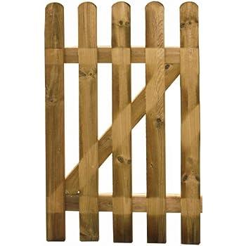 Cancelletto cancello in legno impregnato in autoclave 100x100h cm papillon giardino - Cancelletto in legno per esterno ...
