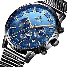 Relojes Hombre Mejor Marca Acero Inoxidable Impermeable Malla Deportes  analógico de Cuarzo Hombres Reloj Moda Negocios ef44612278eb