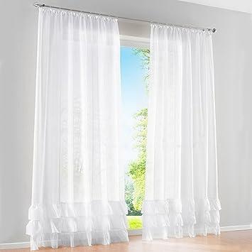 1pc rideau voilage transparant couleur unie avec 3 plis rideaux à