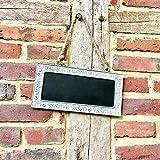 Antikas - Aushänger fürs Gartentor Schild - Kreidetafel zur Beschriftung - Tafel Vintage