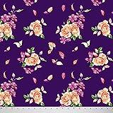 Soimoi 42 Zoll breit Viskose Chiffon mit Blumenmustern