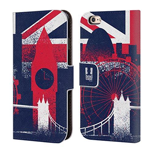 Head Case Designs Reise Das Beste Von London Brieftasche Handyhülle aus Leder für Apple iPhone 6 Plus / 6s Plus Wahrzeichen