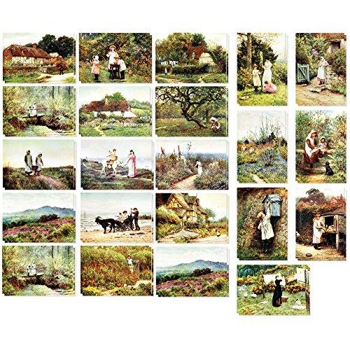 Wahrzeichen Collection (Postkarten im Vintage-Stil, 20 verschiedene Designs, je 2 Stück pro Design, 40 Stück, 10,16 x 15,24 cm, alte Welt/europäisch)