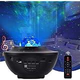 Lampada Proiettore Stelle, Senders Proiettore a Luce Stellare con 10 Modalità, LED Lampada Musicale Romantica Cielo Stellato