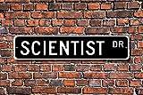 Aersing Placa de Metal de Aluminio para Decorar la Pared, Diseño de Signo de científicos, Laboratorio y Estudios científicos