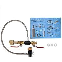 Connecteur de Recharge de CO2, Adaptateur de Recharge pour Bouteille de CO2 G1/2 Avec Tuyau et 2 Vannes Marche/ArrêT…