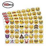 Emoji Temporäre Tattoo set (160 stücke 2 zoll), Konsait Emoji Kindertattoos temporäre Tätowierungen Körper Aufkleber für Kinder frauen männer Kindergeburtstag Mitgebsel