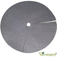 10x Baumschutzvlies Unkrautvlies Rundscheibe 50 cm - 80 g/m² - schwarz (Grundpreis 2,00 EUR/Stück)