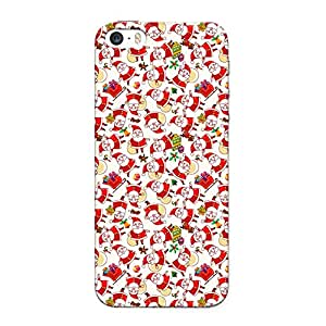 CrazyInk Premium 3D Back Cover for Apple Iphone 5 - Santa Pattern