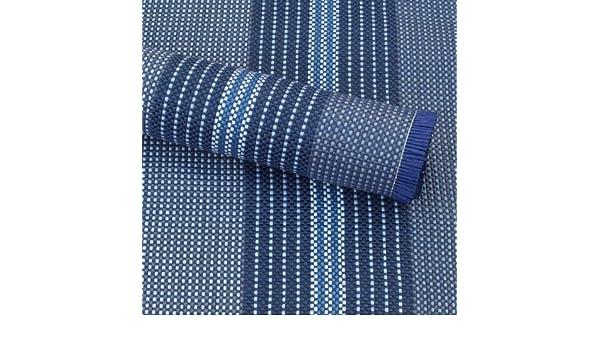 Terassen oder Markisen Vorzeltteppich ideal f/ür Zelte robust Balkon Arisol Zeltteppich Luxe blau