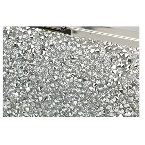 Borsa Da Sera Da Donna Con Diamanti Di Lusso Di Alta Qualità In Argento
