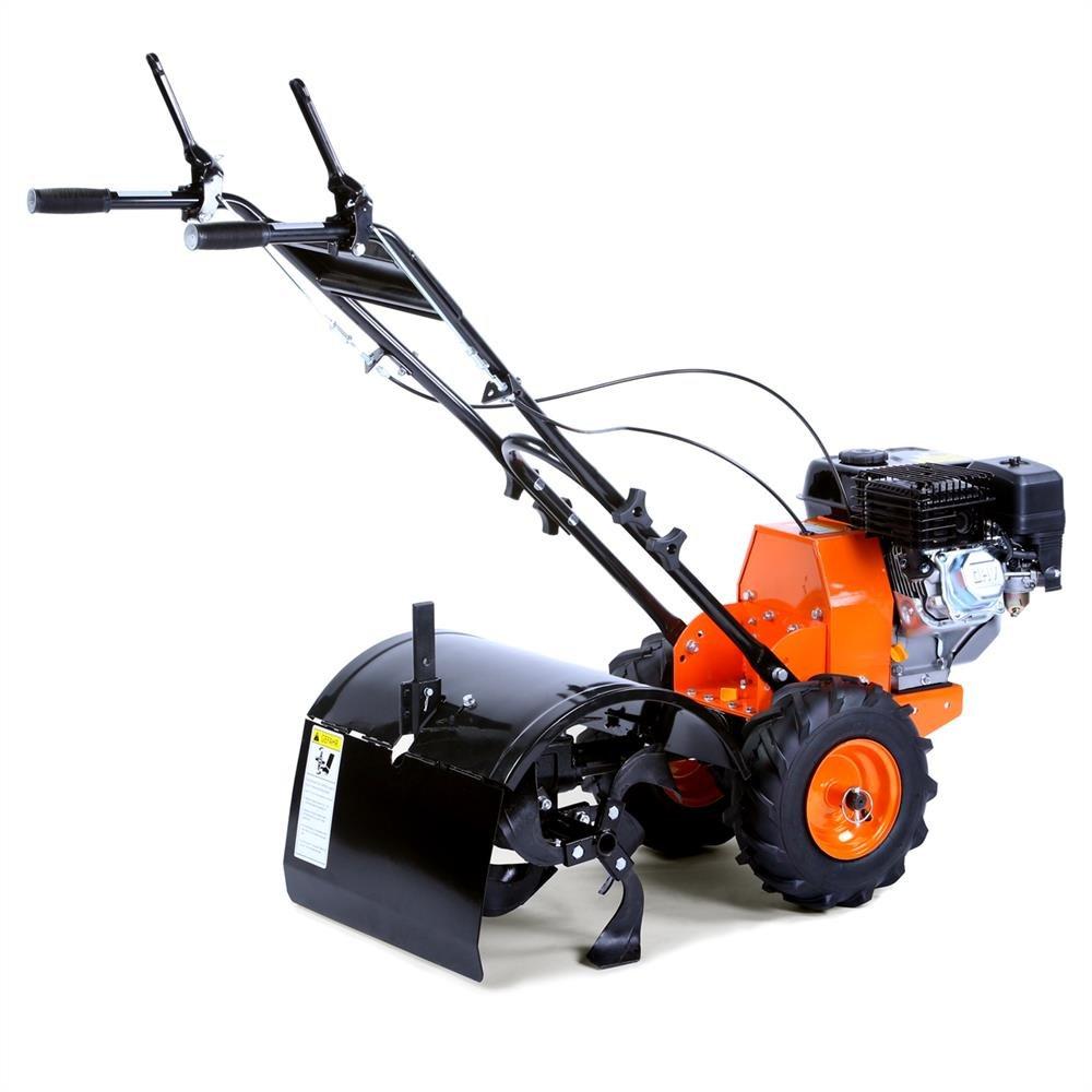 FUXTEC Benzin Gartenfräse FX-AF200 Motorhacke Ackerfräse Bodenfräse Bodenhacke Kultivator mit Räder, 196cc 4,8KW / 6,5PS