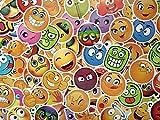 SBS Lot de Stickers Émoticône, Emoji, Smiley, Autocollants icône, Visages Bonhomme Sourire (50)