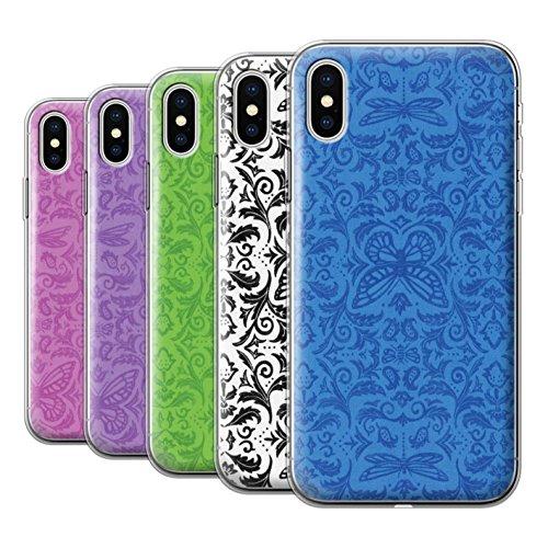 Stuff4 Gel TPU Hülle / Case für Apple iPhone X/10 / Rosa Muster / Insekten Muster Kollektion Pack (7 pcs)