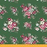 Soimoi Crafting Baumwollpopeline Stoff mit Blumenmustern 58