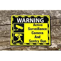 Video Surveillance Sign Sentry Gun Team fortress 2 TF2 inspired sign - 3mm Aluminium Composite ultra hi-durability sign - 300mm x 200mm