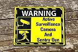 Video Surveillance Schild Sentry Gun Team Fortress 2Medic inspiriert Schild aus Aluminium–3mm Composite Ultra hi-durability Schild–300mm x 200mm x 200mm