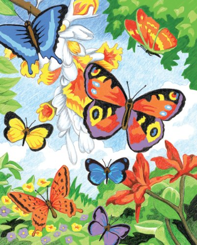 Royal & Langnickel CPN2 - Malen nach Zahlen mit Buntstiften - Schmetterlinge