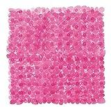 Badewanneneinlage Badematte Wanneneinlage 35cm x 67cm pink Antirutschmatte