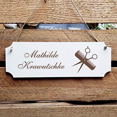 Cartel «Friseur» puerta grabado personalizado diseño