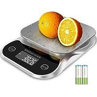 Balance de cuisine numérique Balance alimentaire Grammes et oz pour la cuisson du café 5 kg 0,1 g 0,003 oz avec fonction…