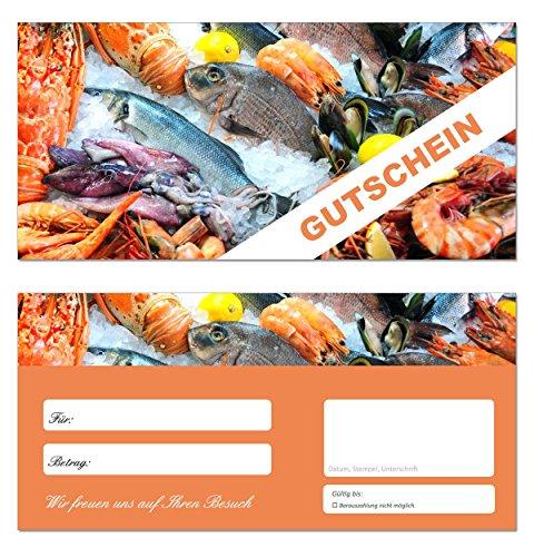 10 Stück Geschenkgutscheine (Fische-656) – Fischhandel Einzelhandel Gutscheinkarten Fischerei Gutscheine Einkauf Fischerei Angeln Angler Fischzucht Fischfang