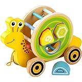 Juguetes de Arrastre de Madera Cocodrilo para ni/ña Ni/ño de 1 a/ño Juguete de Aprendizaje para beb/és para Caminantes Principiantes JOKFEICE Juguetes de Arrastre para ni/ños peque/ños