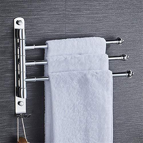 Toallero giratorio en el baño, toallero plegable montado en la pared, acero inoxidable 304, varilla giratoria 3