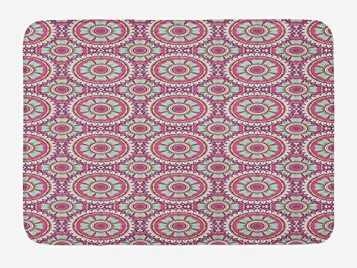 (Changjianggun Bathroom Bath Rug Kitchen Floor Mat Carpet,Halloween,Cute Puppy Wearing a Witch Hat Trick or Treat Little Bats Festive Funny,Orange Black Brown,Flannel Microfiber Non-slip Soft Absorbent)
