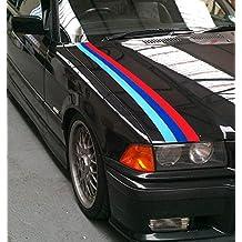 BMW M color coche de vinilo Graphic Stripe M3 Sport E30 E36 E46 E60 ...