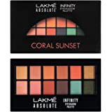 Lakme Absolute Infinity Eye Shadow Palette, Coral Sunset, 12 g