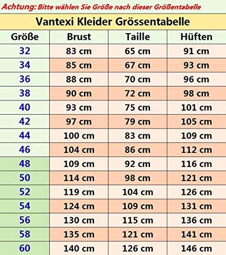 Vantexi Damen Liebsten Lang Spitze Tüll Abschlussballkleid Ballkleid Festkleider Smaragd Größe 50